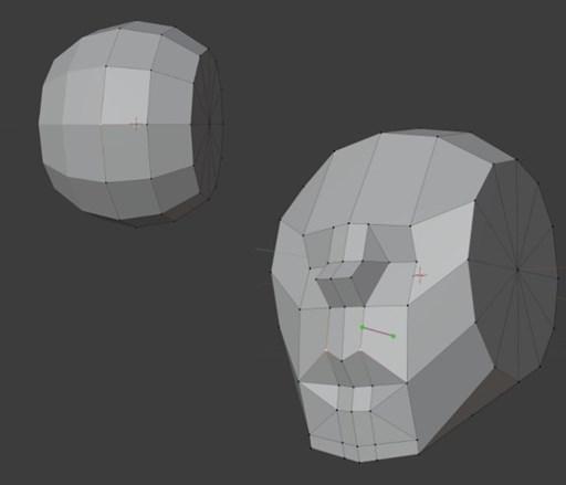 球体などのオブジェクトにカットを入れていく作り方